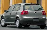 2009 Volkswagen Rabbit, Back Left Quarter View, exterior, manufacturer