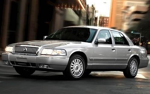 2009 Mercury Grand Marquis, Front Left Quarter View, exterior, manufacturer