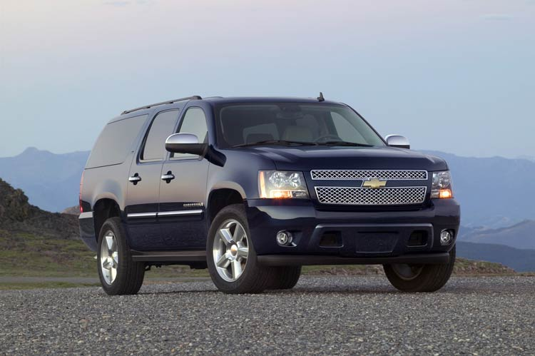 2009 Chevrolet Suburban, Front Right Quarter View, manufacturer, exterior