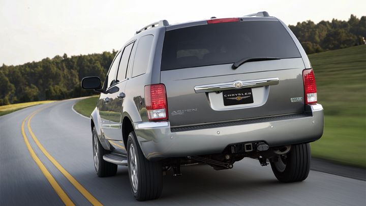 2009 Chrysler Aspen Hybrid Limited 4WD, Back View, manufacturer, exterior