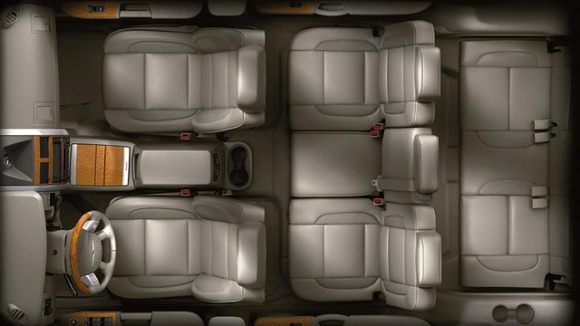 2009 Chrysler Aspen Hybrid Limited 4WD, Overhead Interior View, interior, manufacturer
