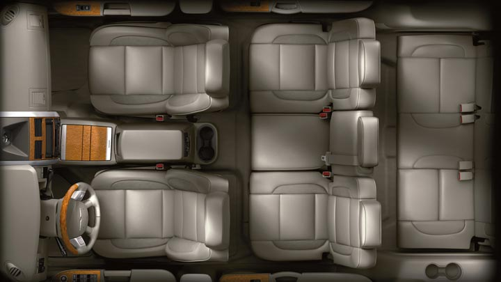 2009 Chrysler Aspen Hybrid Limited 4WD, Overhead Interior View, manufacturer, interior