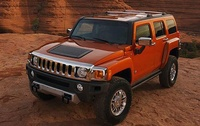 2009 Hummer H3 Alpha, Alpha Front Right Quarter View, manufacturer, exterior