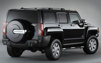 2009 Hummer H3 H3X, Back Right Quarter View, exterior, manufacturer