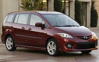2009 Mazda MAZDA5 Grand Touring, Front Right Quarter View, exterior, manufacturer