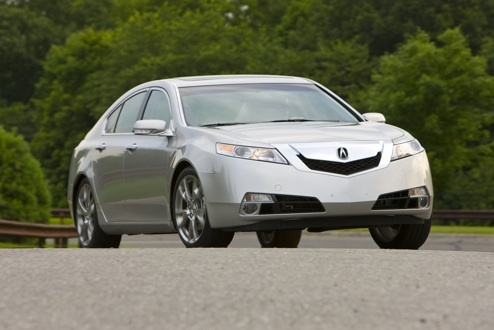 2009 Acura TL, Front Right Quarter View, exterior, manufacturer