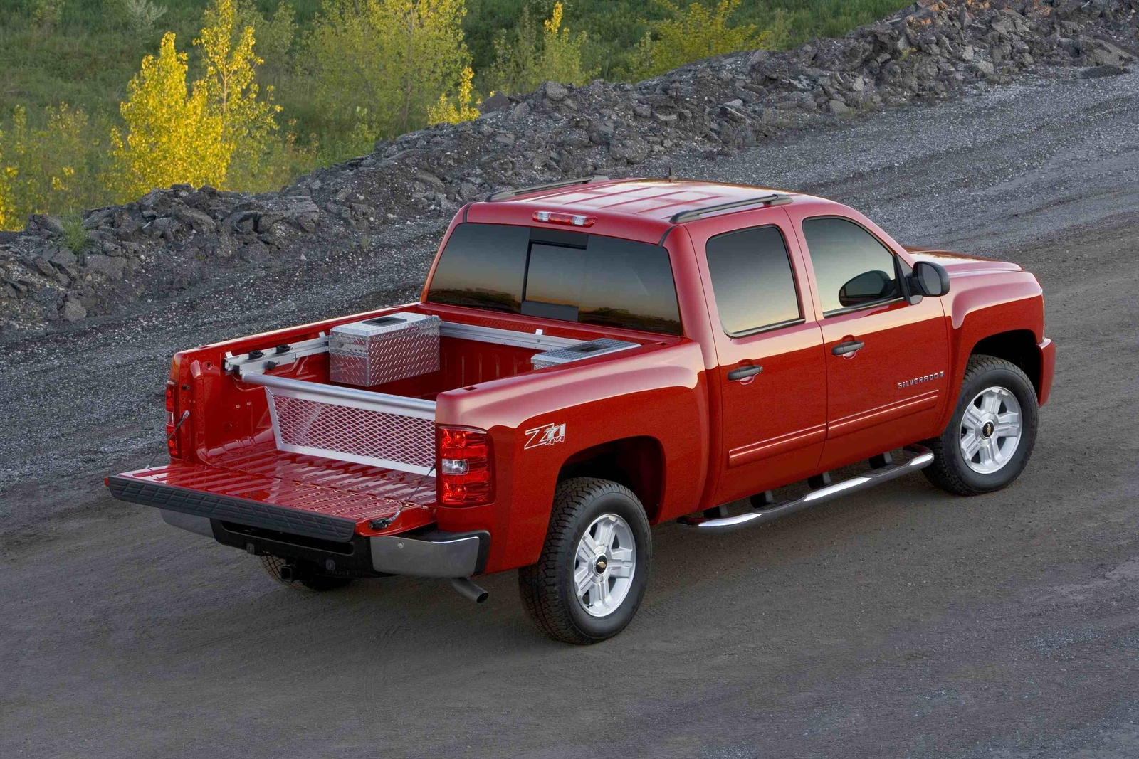 2009 Chevrolet Silverado 1500, Back Right Quarter View, manufacturer, exterior