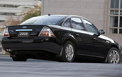 2008 Ford Taurus, Back Right Quarter View, exterior, manufacturer