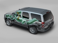 2009 GMC Yukon Hybrid, Back Left View, manufacturer, exterior, interior
