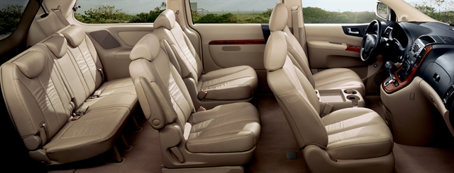 2009 Hyundai Entourage, Interior Side View, manufacturer, interior