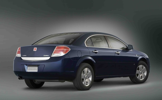 2009 Saturn Aura Hybrid, Back Right Quarter View, exterior, manufacturer