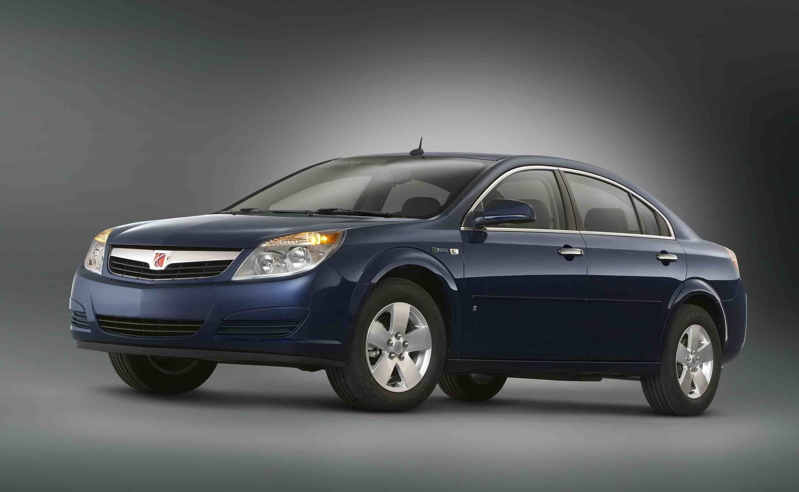 2009 Saturn Aura Hybrid, Front Left Quarter View, exterior, manufacturer