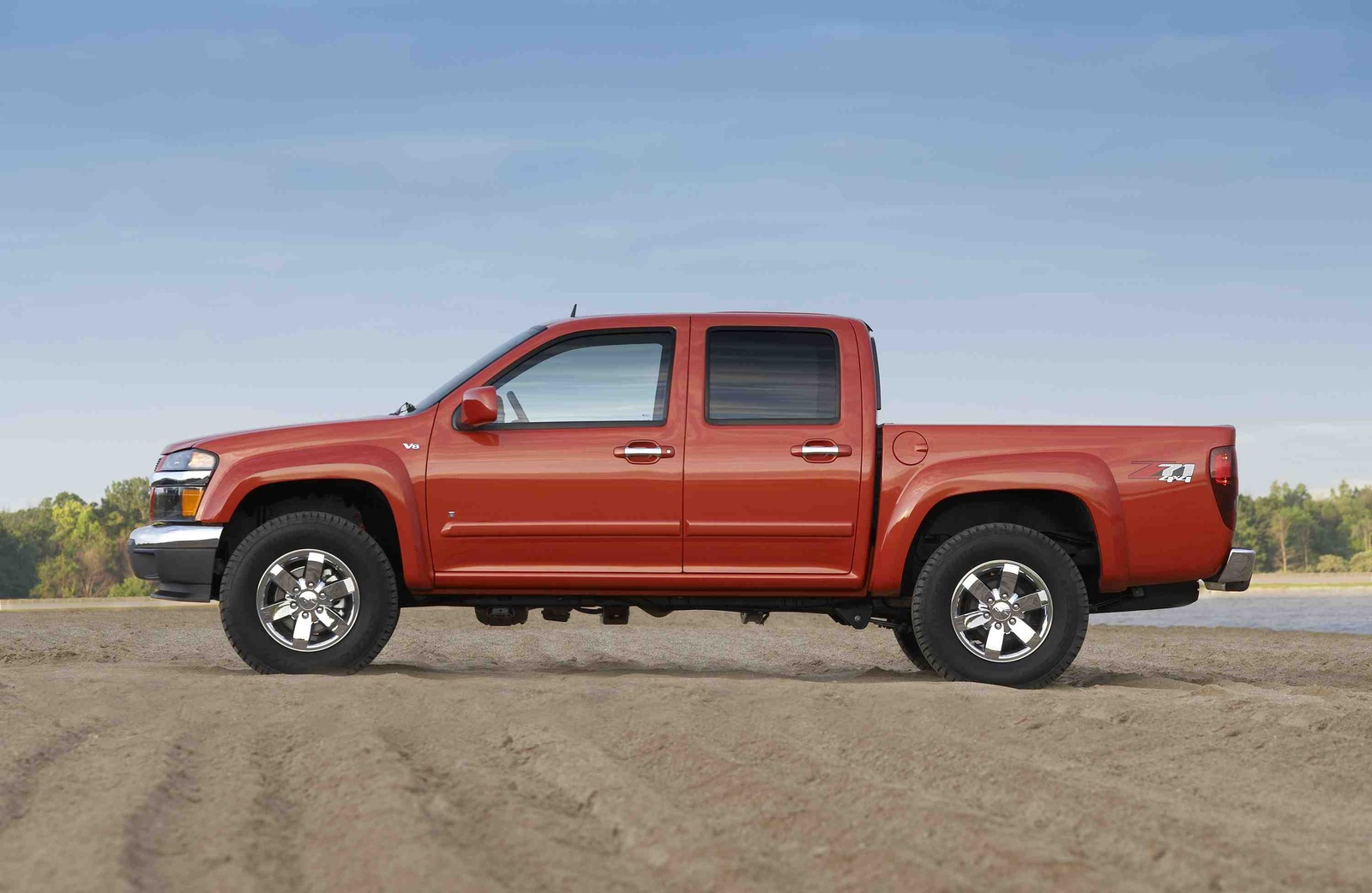 2009 Chevrolet Colorado, Left Side View, manufacturer, exterior