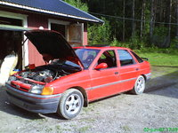Picture of 1990 Ford Escort 4 Dr LX Hatchback, exterior, engine