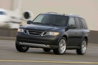 2009 Saab 9-7X, Front Left Quarter View, exterior, manufacturer