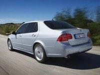 2009 Saab 9-5, Back Left Quarter View, exterior, manufacturer