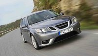 2009 Saab 9-3 SportCombi, Front Right Quarter View, exterior, manufacturer