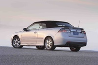 2009 Saab 9-3 Aero Convertible, Back Left Quarter View, exterior, manufacturer
