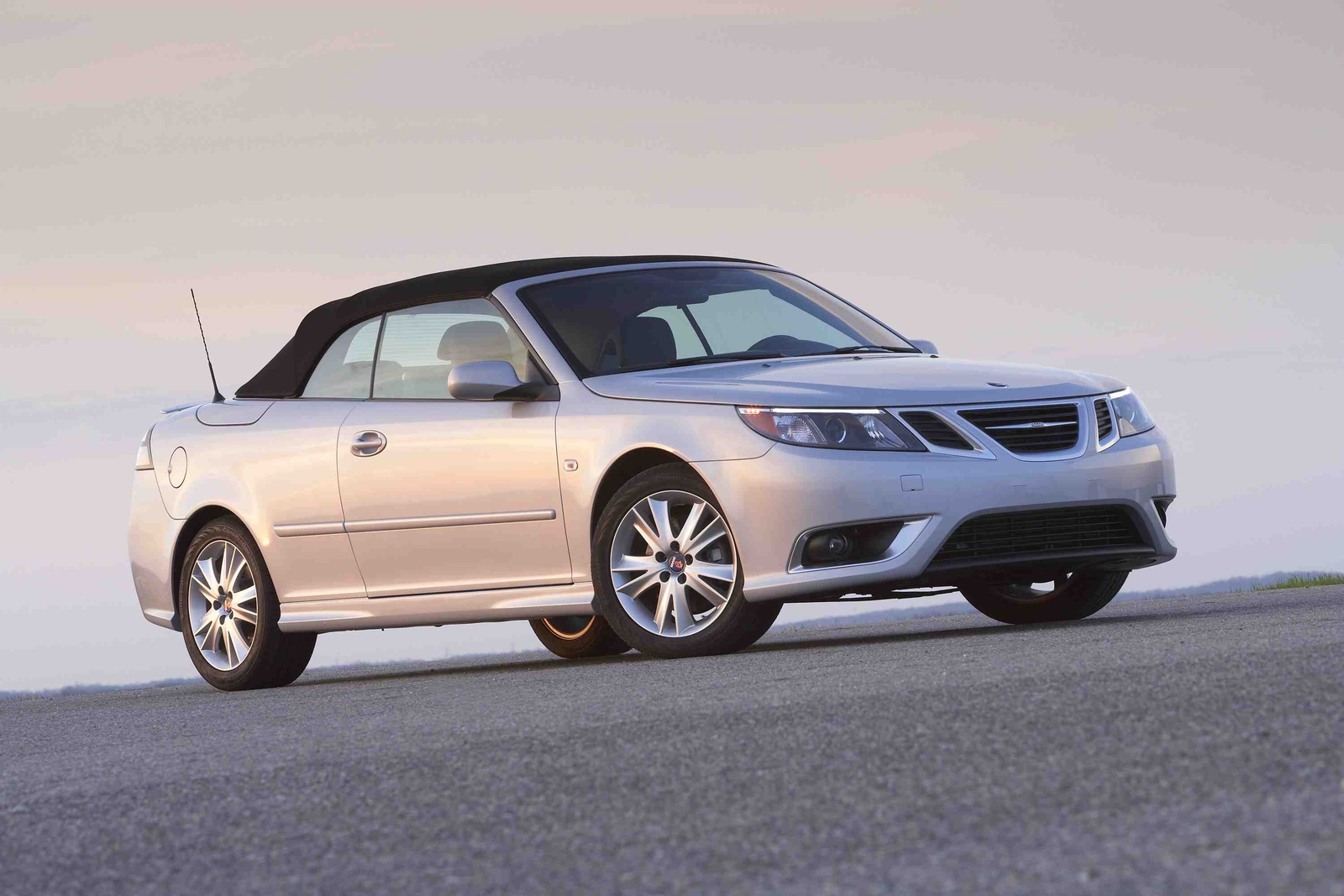 2009 Saab 9-3 Aero Convertible, Front Right Quarter View, exterior, manufacturer