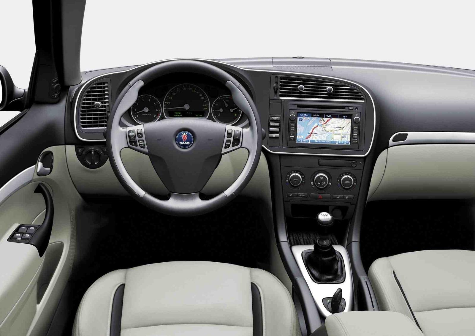 2009 Saab 9-3 Aero, Interior Front Seat View, interior, manufacturer