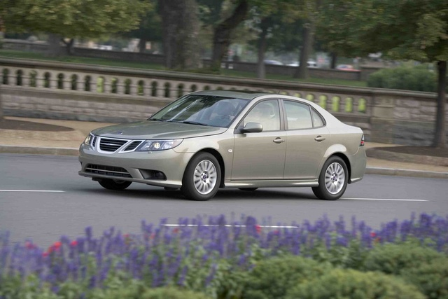 2009 Saab 9-3 2.0T Touring Sedan, Left Side View, exterior, manufacturer