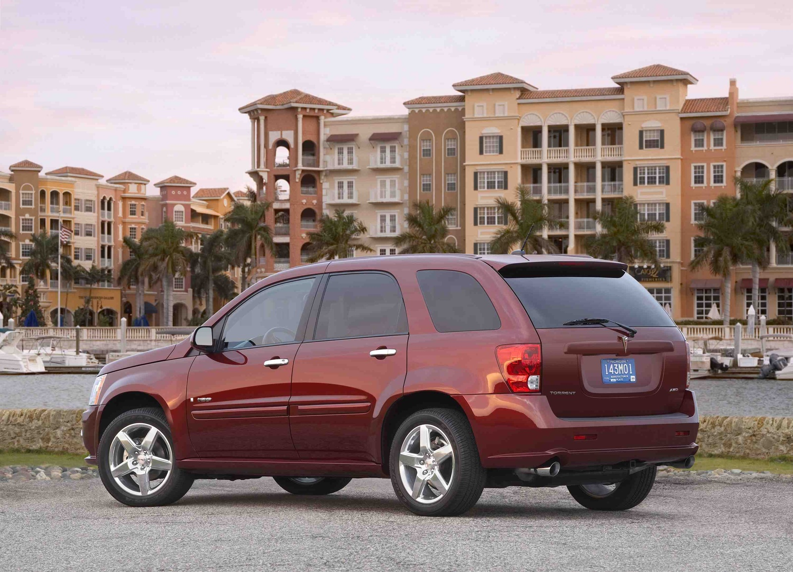 2009 Pontiac Torrent, Back Left Quarter View, manufacturer, exterior