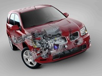 2009 Pontiac Torrent, Front Right Quarter Interior/Exterior View, interior, exterior, manufacturer