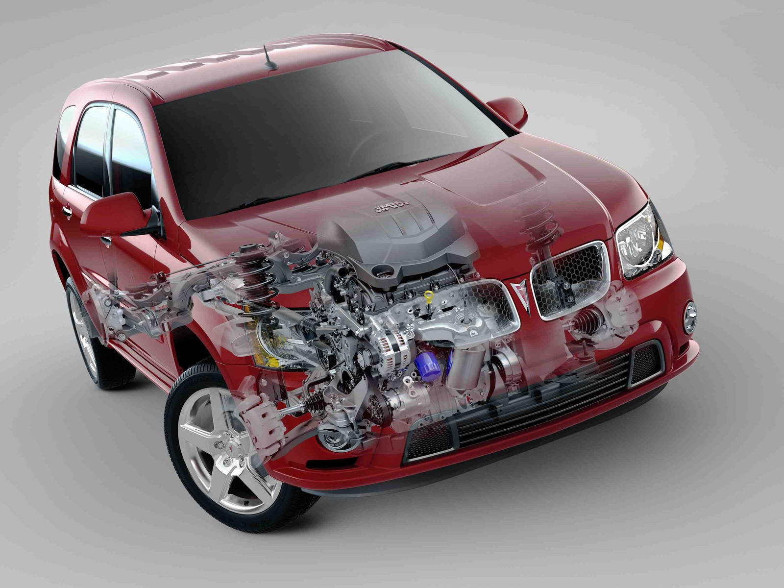 2009 Pontiac Torrent, Front Right Quarter Interior/Exterior View, manufacturer, exterior, interior