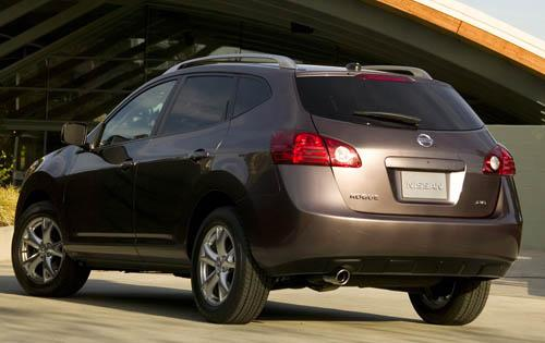 2009 Nissan Rogue, Back Left Quarter View, manufacturer, exterior