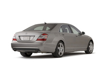 2009 Mercedes-Benz S-Class, Back Right Quarter View, manufacturer, exterior