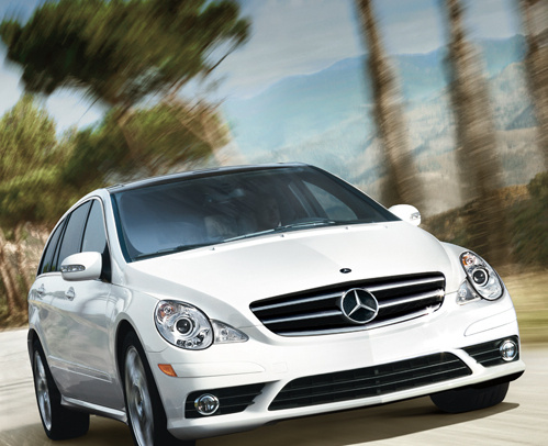2009 Mercedes-Benz R-Class, Front Right Quarter View, exterior, manufacturer
