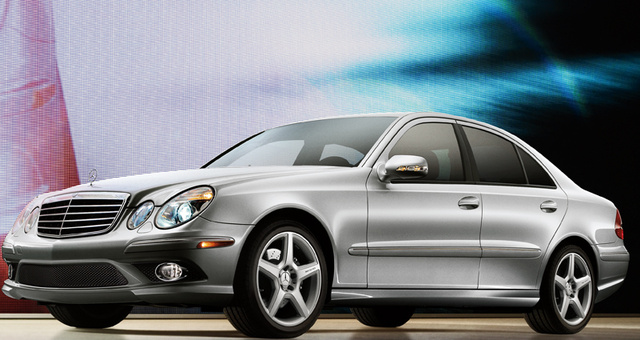 2009 Mercedes-Benz E-Class, Front Left Quarter View, exterior, manufacturer