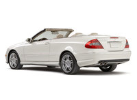2009 Mercedes-Benz CLK-Class, Back Left Quarter View, exterior, manufacturer
