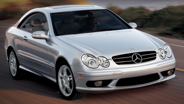 2009 Mercedes-Benz CLK-Class, Front Right Quarter View, exterior, manufacturer