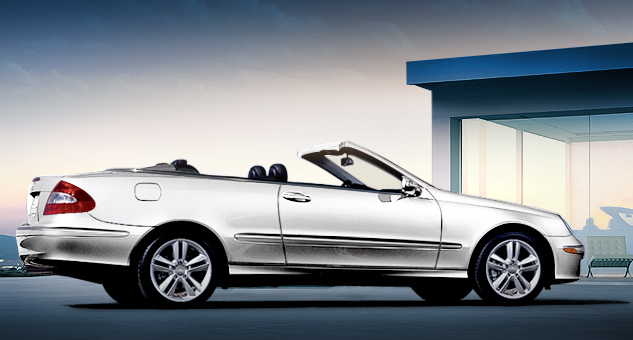 2009 Mercedes-Benz CLK-Class, Right Side View, exterior, manufacturer