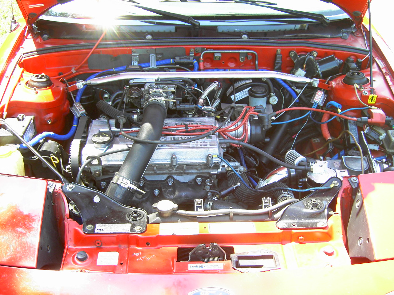1991 Mercury Capri 2 Dr XR2 Turbo Convertible picture, engine