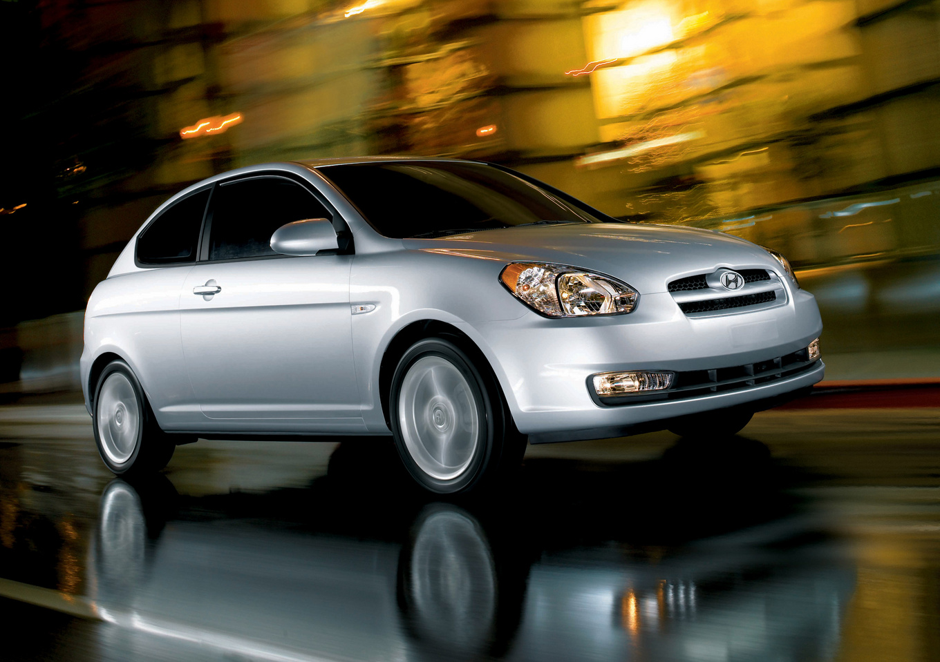 2009 Hyundai Accent, Front Right Quarter View, manufacturer, exterior