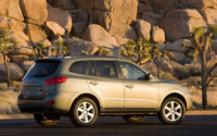 2009 Hyundai Santa Fe, Back Right Quarter View, manufacturer, exterior