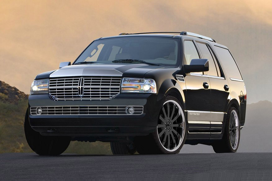 2009 Lincoln Navigator, Front Left Quarter View, exterior, manufacturer