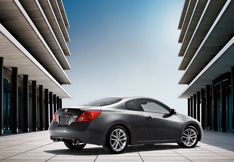 2009 Nissan Altima Coupe, Back Right Quarter View, manufacturer, exterior