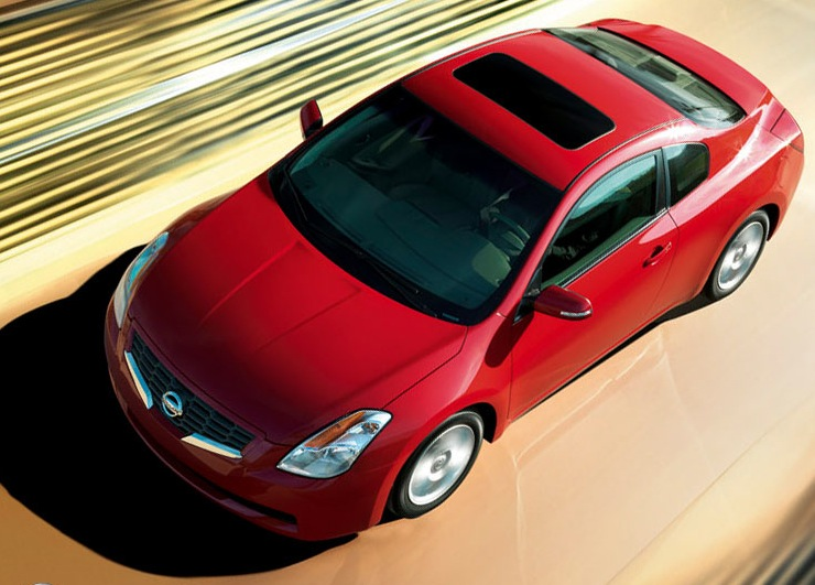 2009 Nissan Altima Coupe, Overhead View, exterior, manufacturer