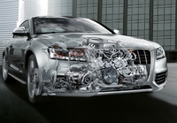 2009 Audi S5, Interior/Exterior Front Right Quarter View, manufacturer, exterior, interior