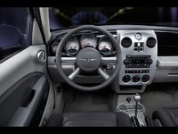 2009 Chrysler PT Cruiser, Interior Front Dash View, manufacturer, interior
