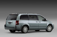 2009 Chrysler Town & Country, Back Right Quarter View, exterior, manufacturer
