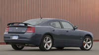 2009 Dodge Charger SRT8, Back Right Quarter View, manufacturer, exterior