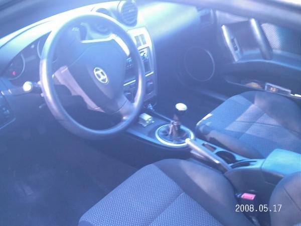 Moonlit Blue 2004 Hyundai Tiburon GT with Black interior Moonlit Blue