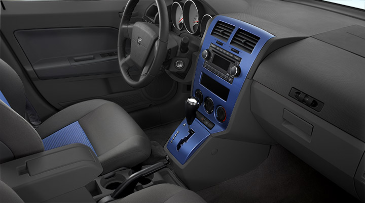 2009 Dodge Caliber, Colored instrument panel & seat inserts - standard on the SXT and optional on the R/T, manufacturer, interior
