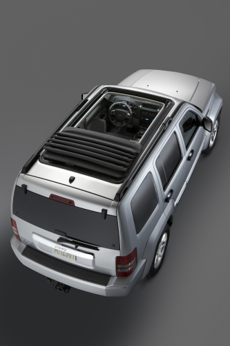 2009 Jeep Liberty, Overhead View, exterior, manufacturer