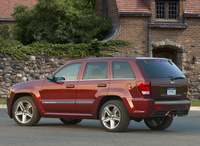 2009 Jeep Grand Cherokee SRT8, Back Left Quarter View, manufacturer, exterior