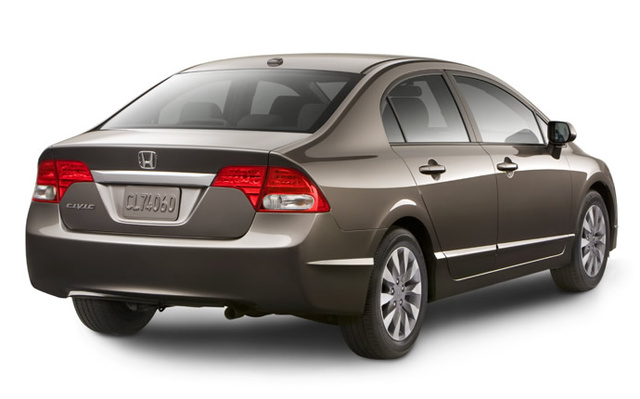 2009 Honda Civic, Back Right Quarter View, exterior, manufacturer, gallery_worthy